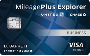 United mileage business card