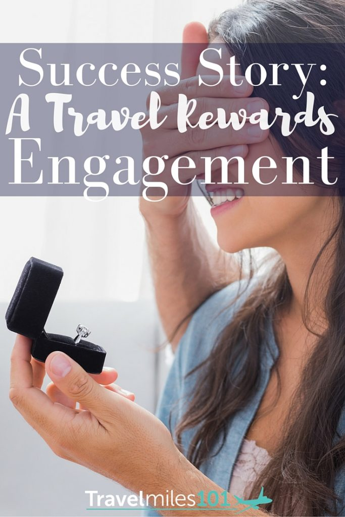 Nathan used rewards points & miles to take his girlfriend on a special trip to Disney World where he proposed! A 'Travel Miles 101' engagement.