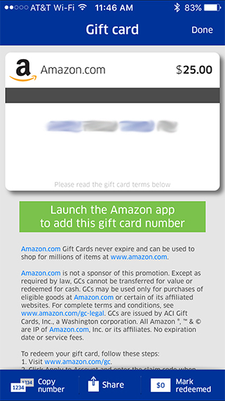 MPX App Amazon Gift Card