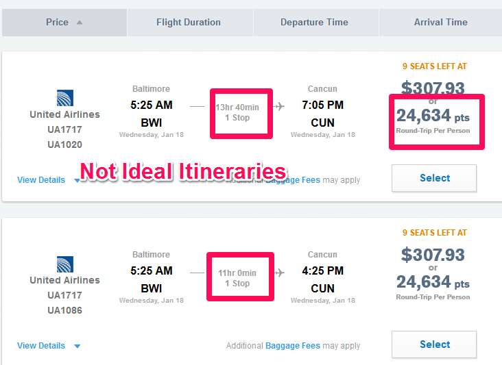 chase-ur-portal-bwi-to-cun-options-updated