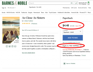 The price of a book on Barnes & Noble...