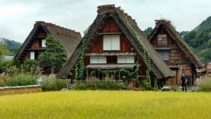 The historic UNESCO village in Shirakawa-go.