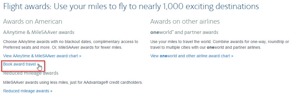 Booking Off Peak Awards To Europe On American Airlines