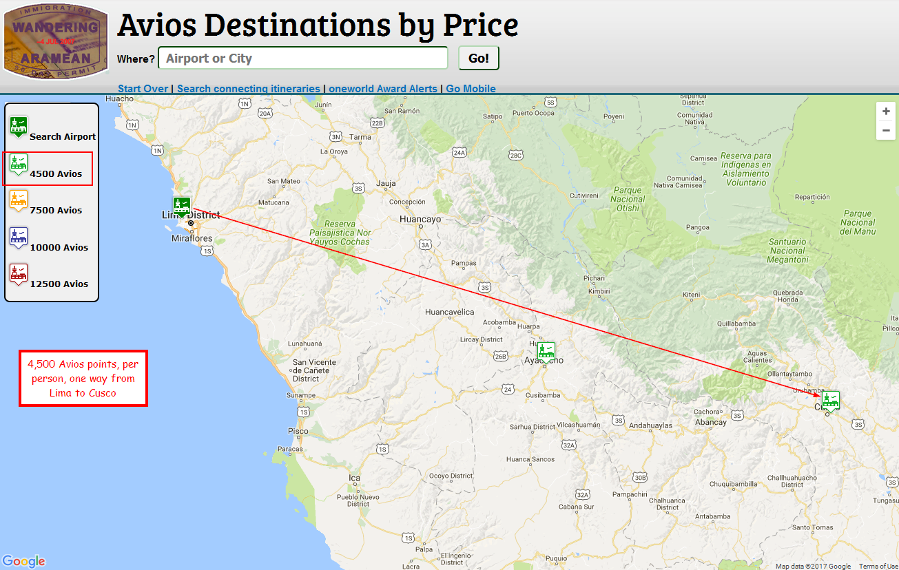 Planning A Trip To Peru And The Galapagos With Miles And Points - Where is lima