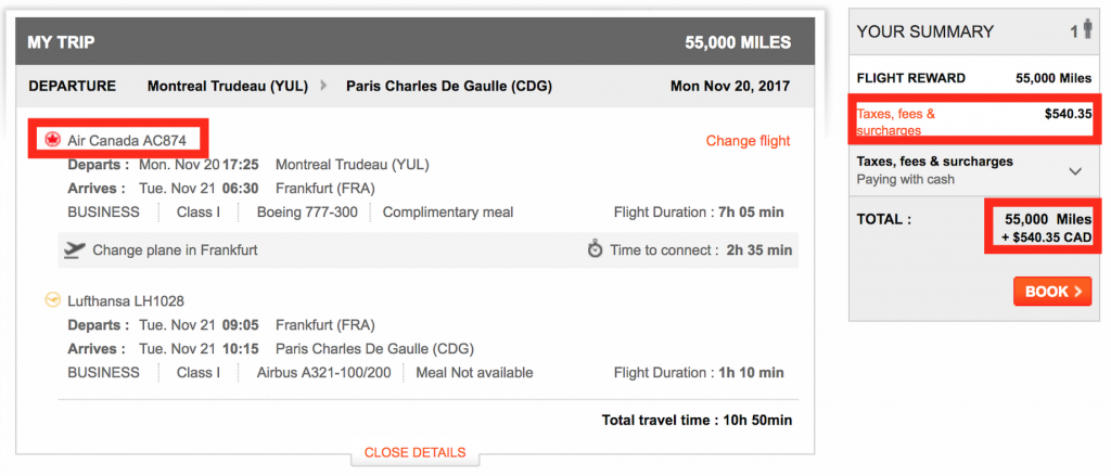 "$425 USD for a ""Free"" Mileage Ticket using Aeroplan?!"