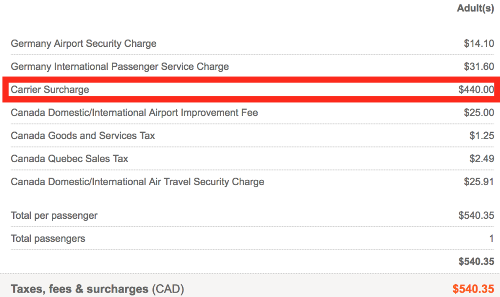 """$346 USD for a """"Carrier Surcharge""""?!"""