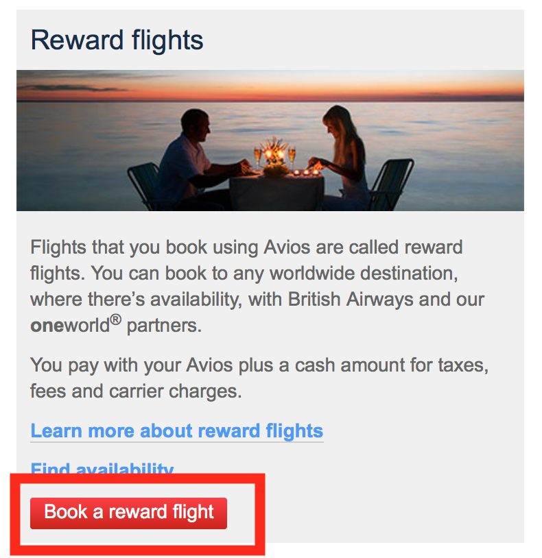 Search for oneworld flights using BA