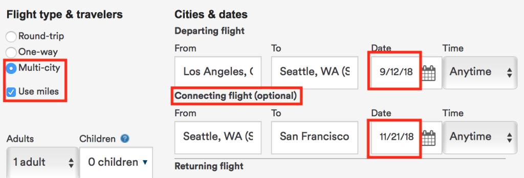 Alaska Airlines Flight Search